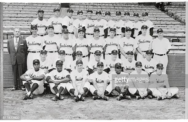 This is an official team photo of the Cleveland Indians leaders in the American League pennant race and almost certain to be the World Series team...