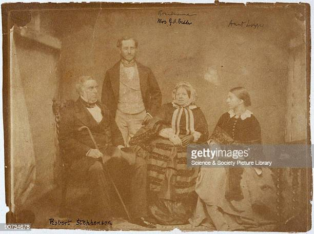 This is believed to be the last known photograph taken of Robert Stephenson English engineer and the son of George Stephenson whom he assisted with...