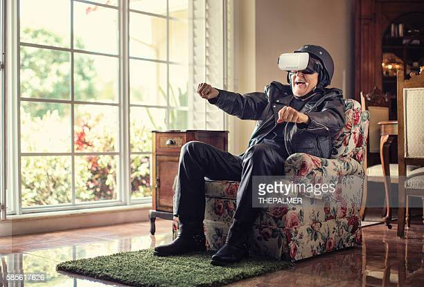 this is better than the real thing - virtual reality simulator stock photos and pictures