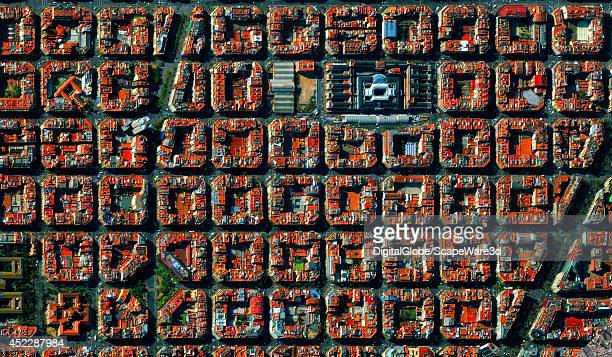 This is DigitalGlobe satellite imagery of a Barcelona Spain neighborhood
