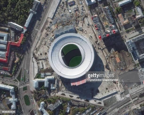 This is DigitalGlobe Satellite imagery of the Ekaterinburg Arena Ekaterinburg Russia