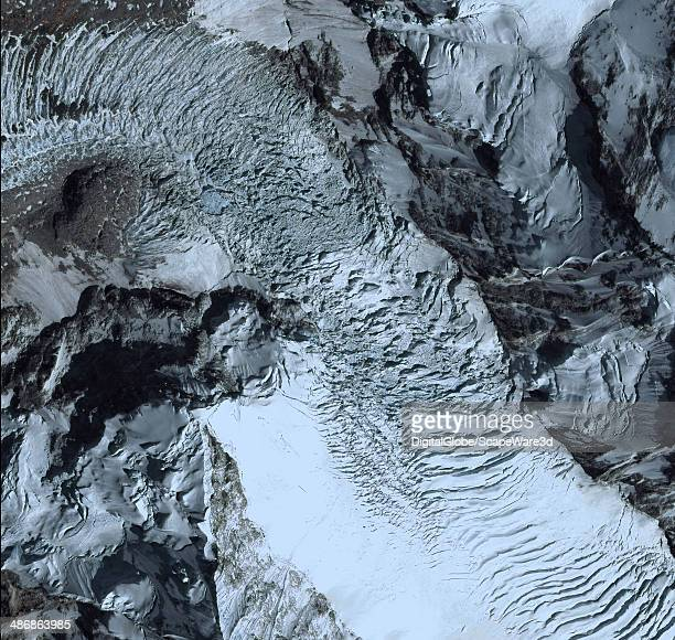 EVEREST NEPAL AVALANCHE APRIL 23 2014 This is DigitalGlobe via Getty Images imagery of the avalanche on Mount Everest near Everest Base Camp that...