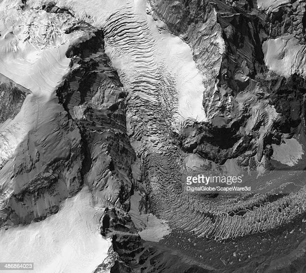 EVEREST NEPAL AVALANCHE APRIL 24 2014 This is DigitalGlobe via Getty Images imagery of the avalanche on Mount Everest near Everest Base Camp that...