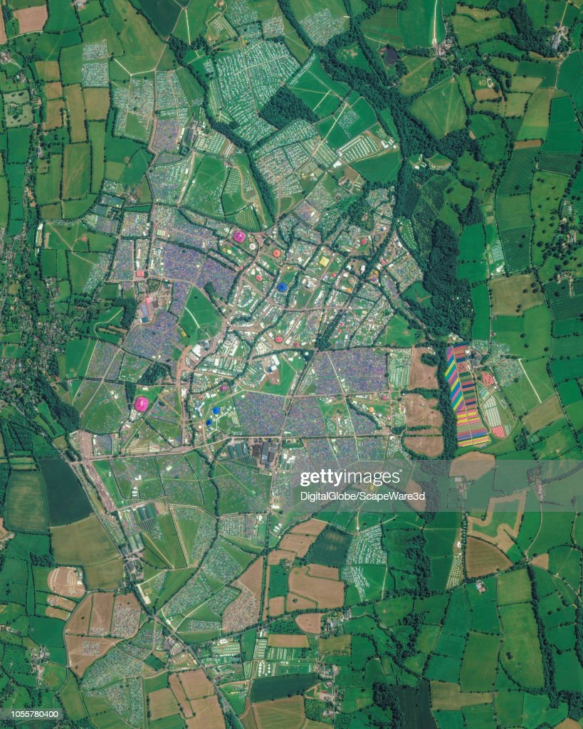 This is DigitalGlobe overview satellite imagery of the Glastonbury Digital Globe Map on