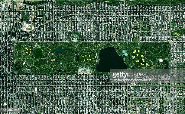 This is DigitalGlobe satellite imagery of Central Park in New York