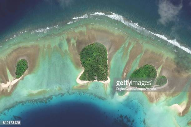 This is DigitalGlobe satellite imagery of Endriken Island This island is a part of the Mili Atoll in the Marshall Islands and is believed by some to...