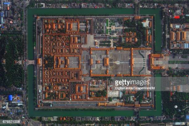 CITY BEIJING CHINA SEPTEMBER 30 2016 This is DigitalGlobe satellite imagery of the Forbidden City in Beijing China