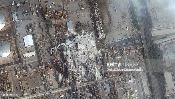 EXPLOSION TORRANCE CALIFORNIA FEBRUARY 19 2015 This is DigitalGlobe satellite imagery of the Torrence California Refinery after the explosion