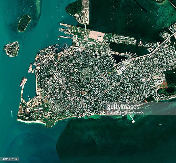 KEY WEST FLORIDA USA OCTOBER 10 2010 This is DigitalGlobe satellite imagery of the southern tip of the lower 48 Key West Florida