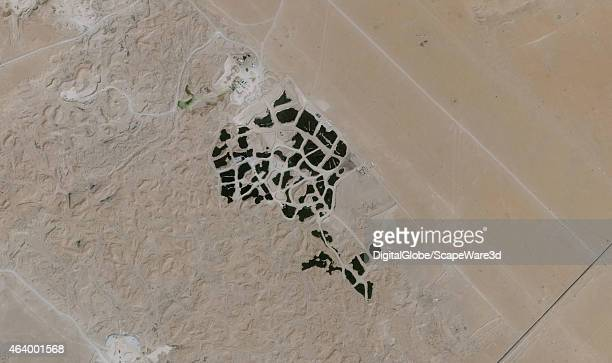This is DigitalGlobe satellite imagery of the worlds largest tire dump outside of Sulaibiya Kuwait