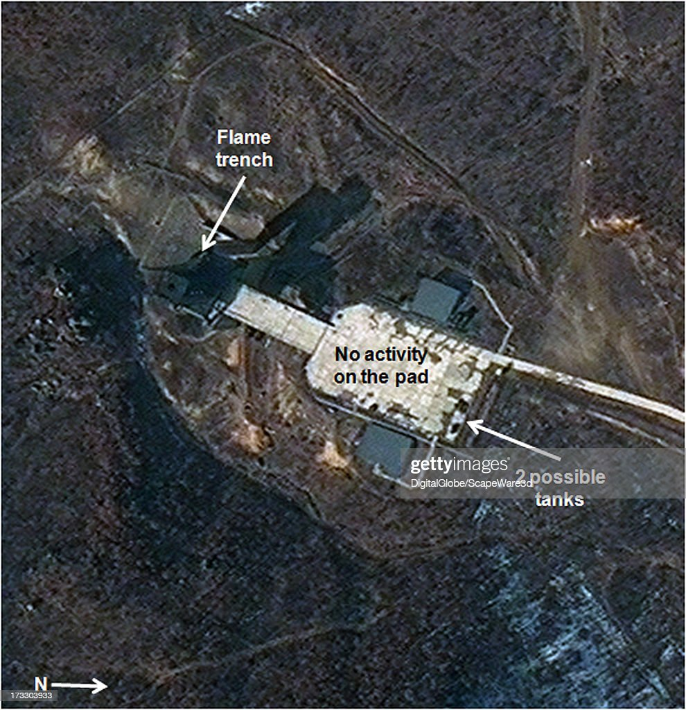 This is Figure 2. No activity seen at the rocket engine test stand. Satellite imagery taken March 4, 2013.