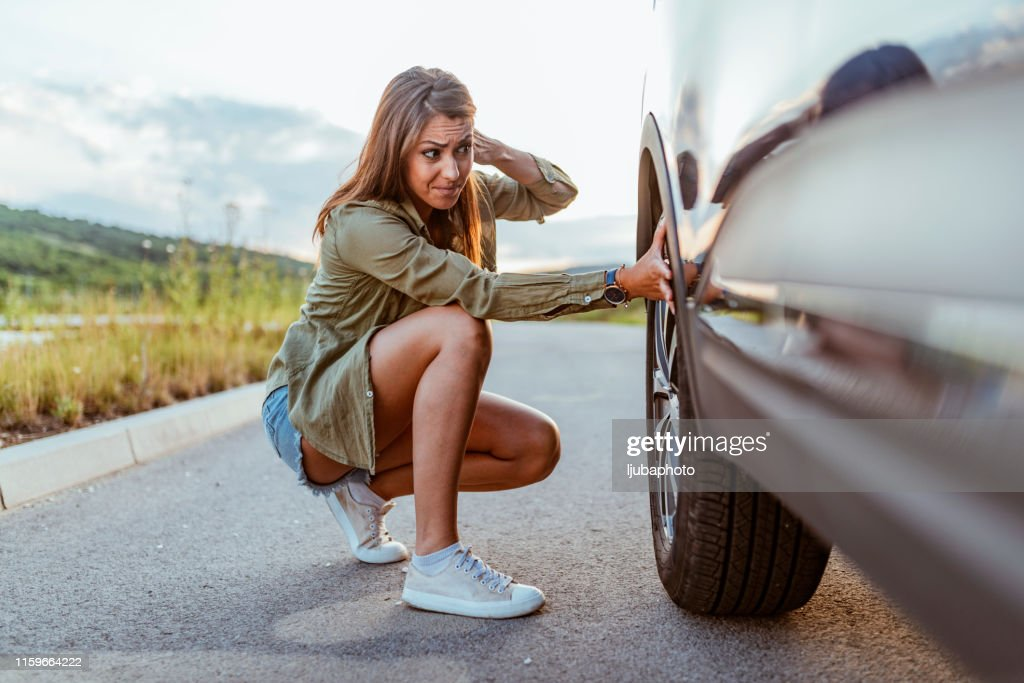This is going to ruin my trip! : Stock Photo