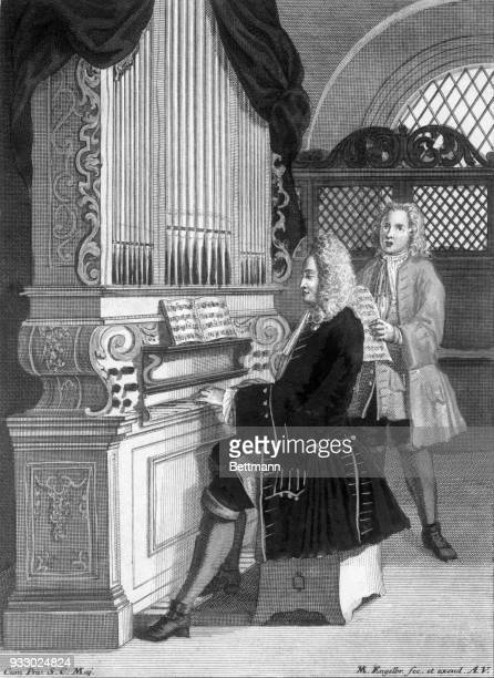This is how Johann Sebastian Bach's organ loft may have looked Engraving by M Engelbrecht