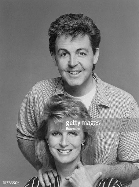 This is how Linda and Paul McCartney appear on the cover of the August issue of McCall's magazine which contains an exclusive interview with him...