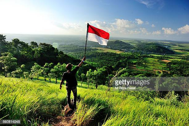 this is indonesia - indonesia flag stock photos and pictures