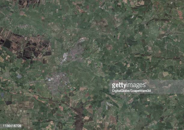 This is Maxar satellite imagery of the Pisces region of the landscape zodiac in the United Kingdom