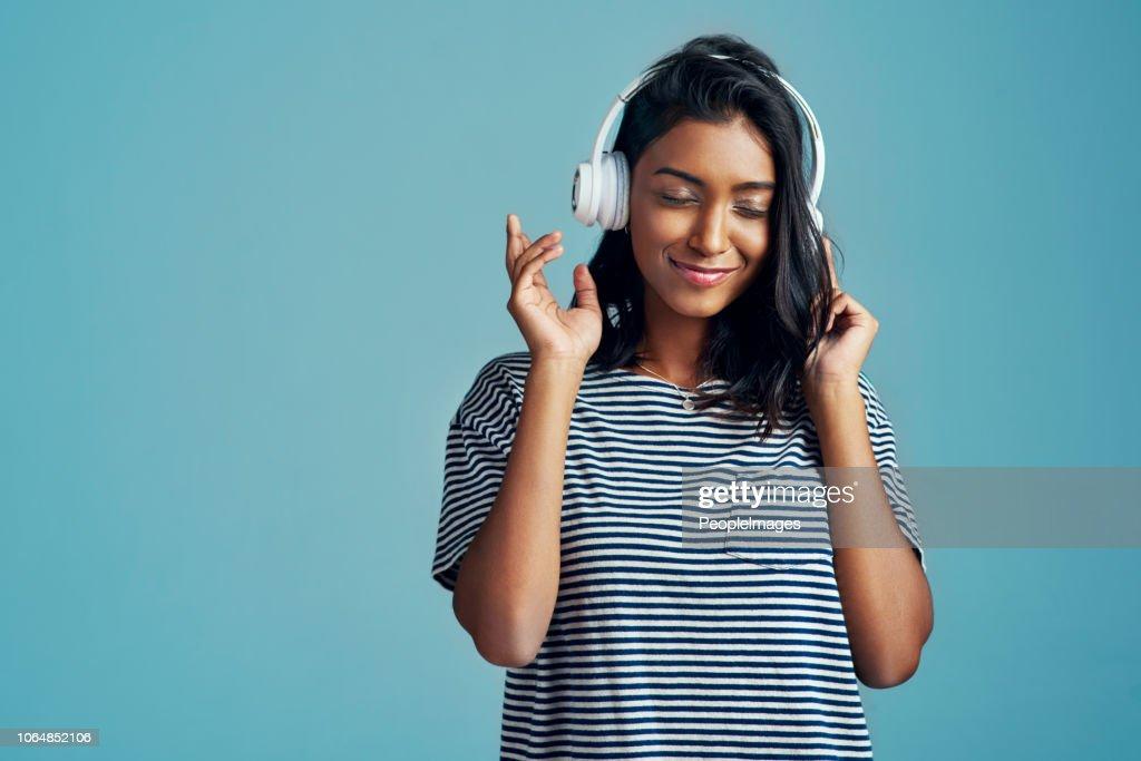 Dit is mijn soort muziek! : Stockfoto