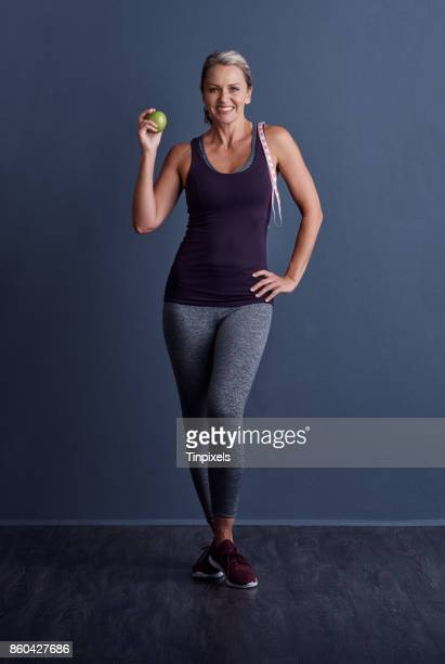 this is my secret to staying trim - one mature woman only stock pictures, royalty-free photos & images