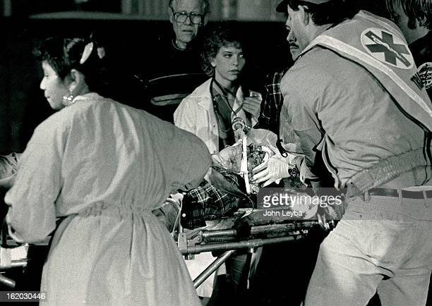 121987 This is one of 8 victims taken to University Hospital this evening after a plane crash at Stapleton International Airport The Victim is...