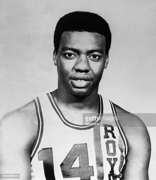 This is Oscar Robertson of the Cincinnati Royals in a head and shoulders position.