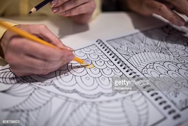 this is quite fun! - colouring book stock photos and pictures