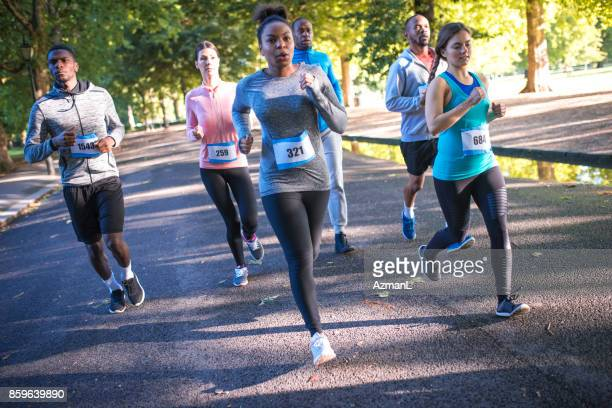 this is real competition - marathon stock pictures, royalty-free photos & images