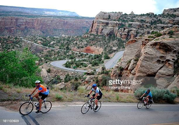 This is Rim Rock Drive the 23milelong road was built in the 1950s by the Civilian Conservation Corp About 40000 cyclists ride over it annually...