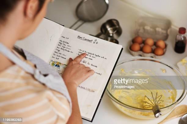 これはまだ私のお気に入りのレシピです - レシピ ストックフォトと画像