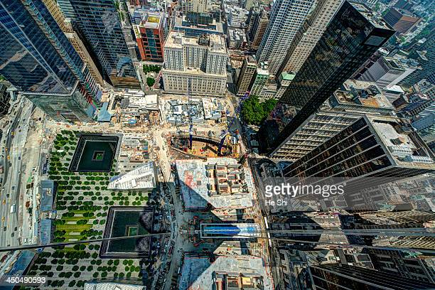 CONTENT] This is straight looking down shot taken from the 47th Story Deck of the Four World Trade Centers looking at National 911 Museum and...
