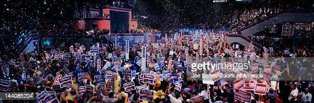 This is the 1992 Democratic National Convention at Madison Square Garden Bill Clinton and Al Gore received the Presidential and Vice Presidential...