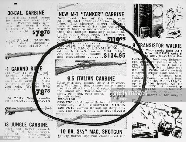 This is the ad taken from Klein's Sporting Goods a mail order house here showing the type of rifle that authorities in Dallas say was used to...