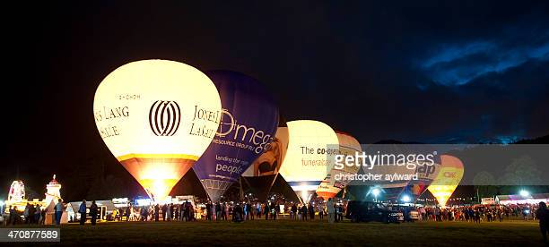 This is the Bristol Balloon Fiesta's Nightglow. All the hot air balloons light up to the music producing a spectacular performance. The festival is...
