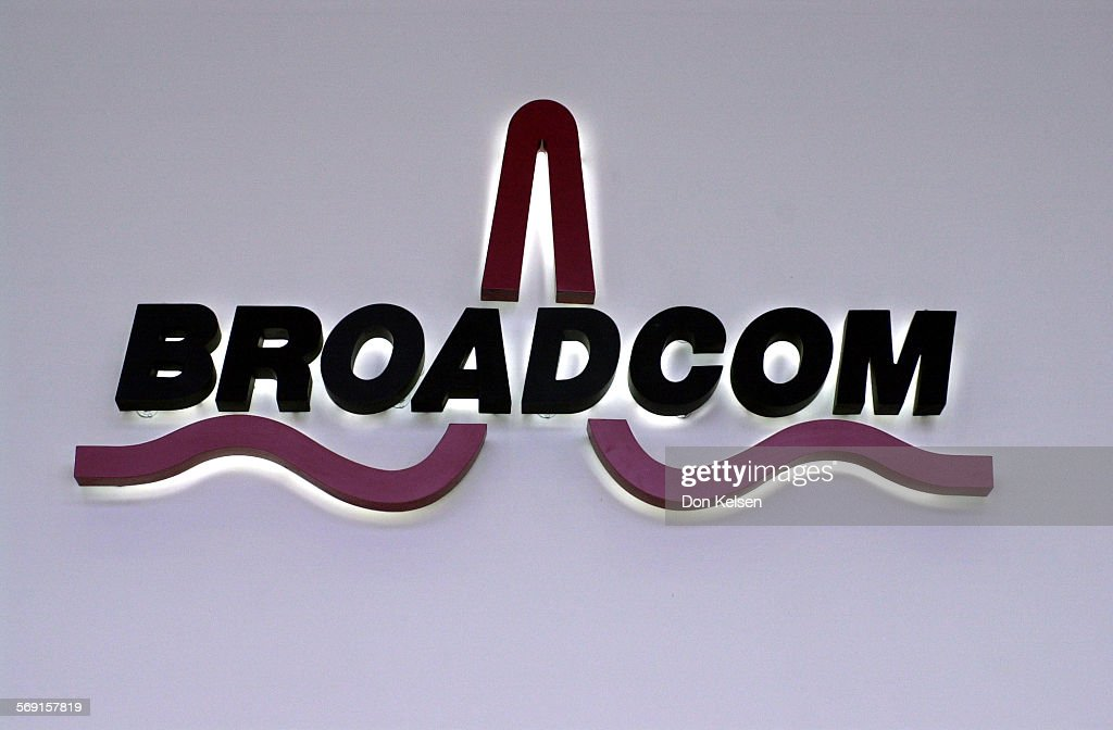 This is the BROADCOM logo in the Lobby of the Irvine based