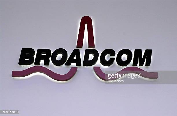 This is the BROADCOM logo in the Lobby of the Irvine based wireless company