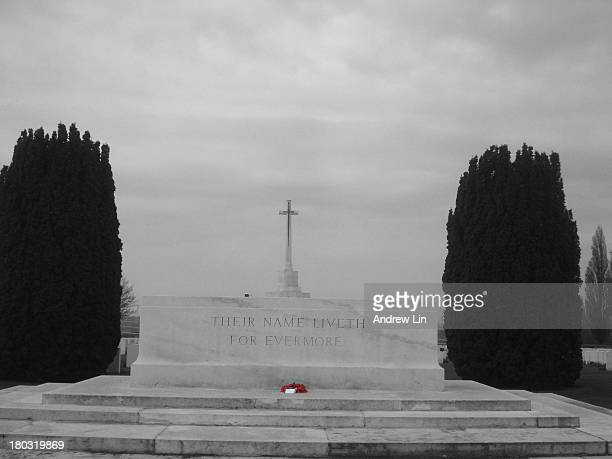 CONTENT] This is the central platform at Tyne Cot Cemetery with the inscription Their Name Liveth For Ever More I turned it black and white except...