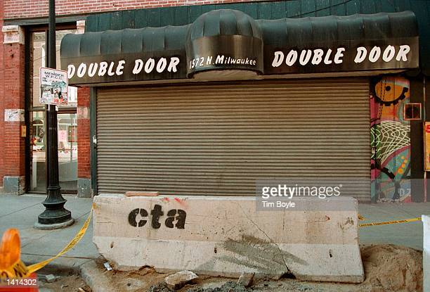 This is the Damen Avenue entrance to the Double Door bar in Chicago''s Wicker Park neighborhood April 12 2000