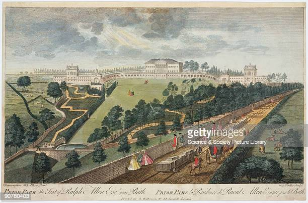 This is the earliest known railway print made from an original drawing by Anthony Walker of 1750 Ralph Allen an English philanthropist was known as...
