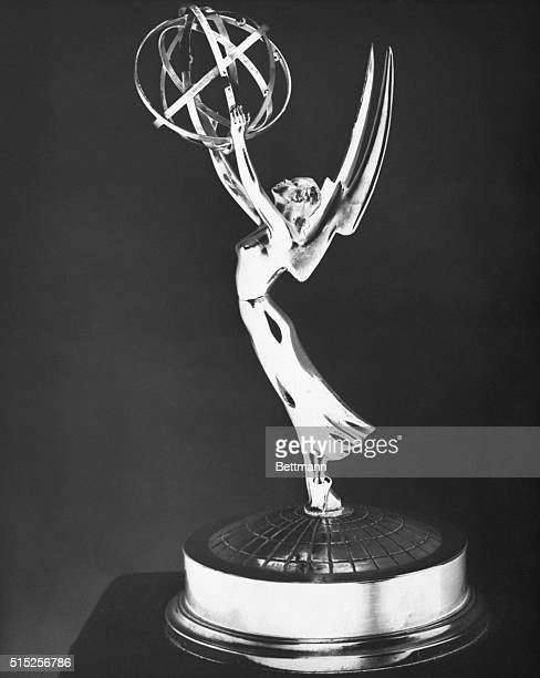 """This is the """"Emmy"""" statuette, to be awarded to winner's in 34 national categories by the Academy of Television Arts and Sciences at its annual 1954..."""