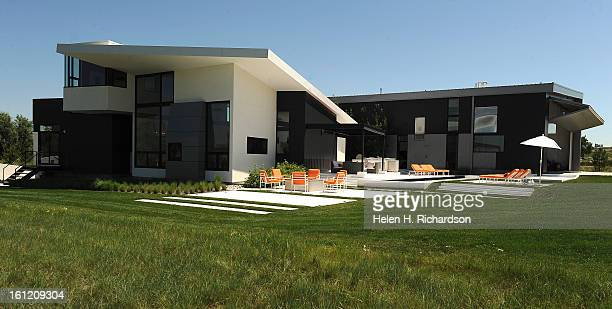 This is the exterior of the house This is the home of Cathleen Van Buskirk and her snazzy home at the Erie Air Park Her sleek modern house is right...