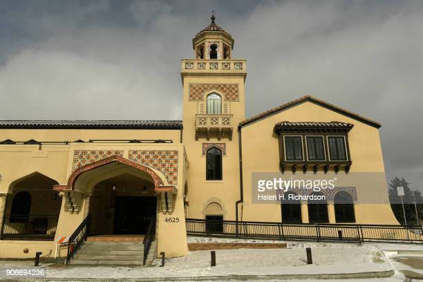 This is the exterior of the new Mirador at Tennyson condominium project that is built inside the historic El Jebel Shrine building at 4625 W 50th Ave...