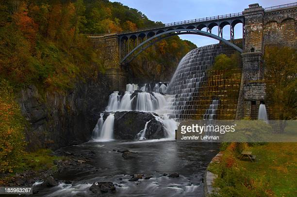 CONTENT] This is the front view of New Croton Dam and spillway a hand hewn masonry structure completed in 1906 When it was completed it was the...