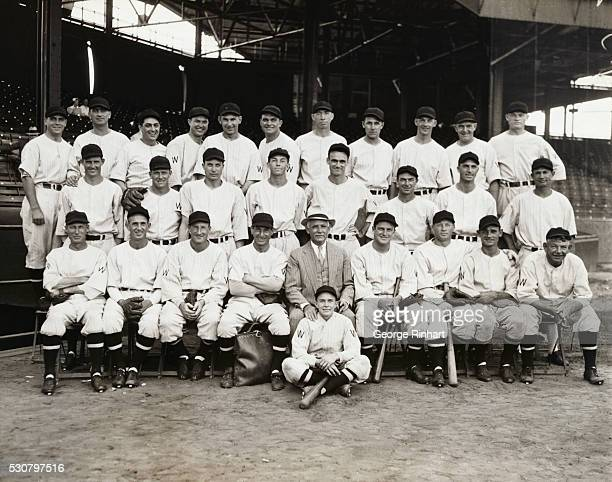 This is the gang that will face the Giants in the World Series which starts off next week. Front row, left to right; Sam Rice, Walter Stewart, Leon...