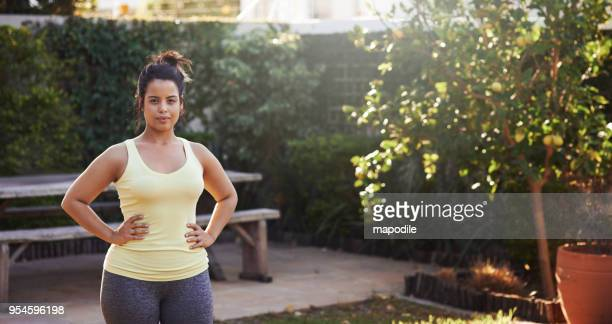 this is the getting fit part of my day - arms akimbo stock photos and pictures
