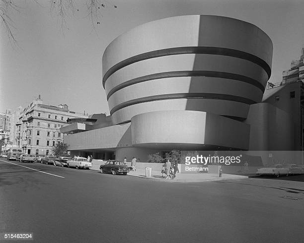 This is the Guggenheim Museum, at 1071 5th Avenue, with a general scene of the building designed by Frank Lloyd Wright for Solomon R. Guggenheim.