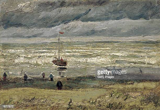 This is the image of the 1882 painting by Dutch artist Vincent van Gogh 'View of the Sea at Scheveningen' one of the two Van Gogh paintings that were...