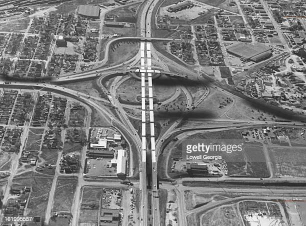 NOV 12 1964 NOV 20 1964 This is the interchange for Valley Highway and Interstate 70 The Valley Highway is being straightened with a bridge over...