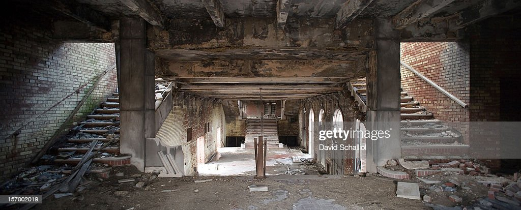 Derelict Stairs and Lobby, Memorial Auditorium : News Photo