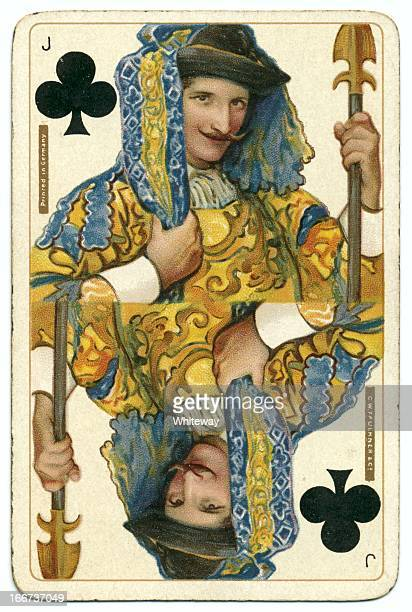jack of clubs original shakespeare vintage dondorf playing card - william shakespeare stock photos and pictures