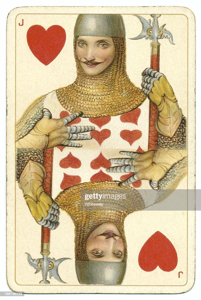 Jack of Hearts original Shakespeare vintage Dondorf playing card : Stock Photo