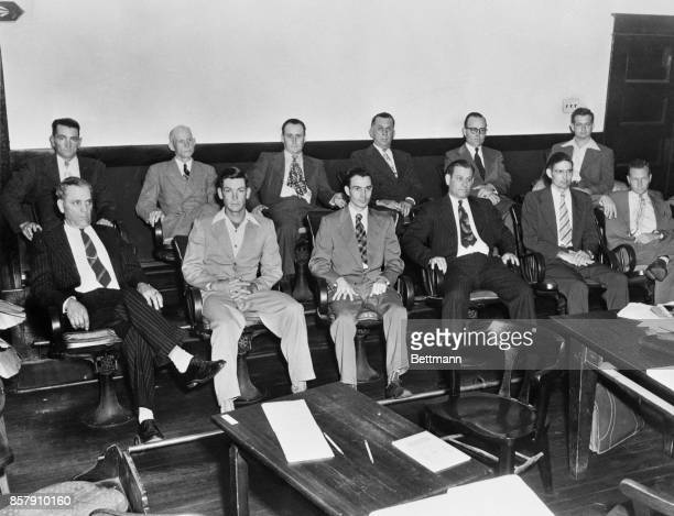 This is the jury which found which found Walter Lee Irvin one of four Negroes guilty of kidnapping and raping a Florida housewife He was sentenced to...
